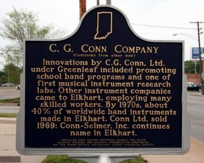 C.G. Conn Company Marker image. Click for full size.