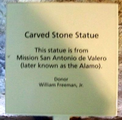 Carved Stone Statue Sign image. Click for full size.