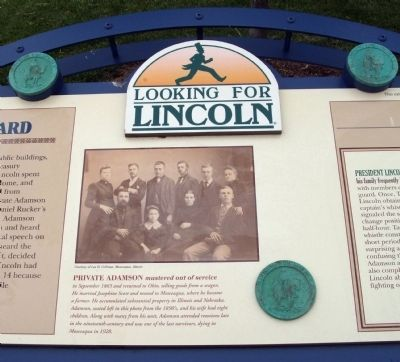 Middle Section - - Lincoln's Cavalry Guard Marker image, Touch for more information