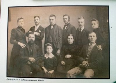 "Middle Section - - Photo ""Ephraim Adamson Family"" - Ephraim seated left... image. Click for full size."