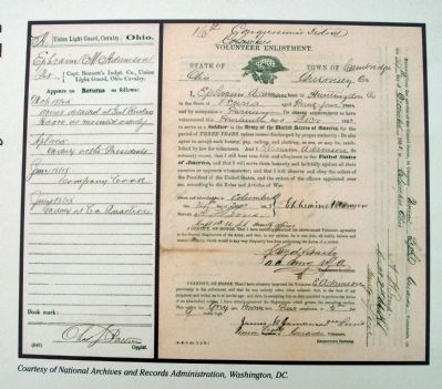 Ephraim Adamson's Enlistment Papers image. Click for full size.
