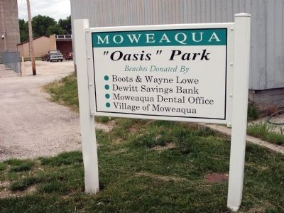 """ ""Oasis"" Park "" sign next to the ""Jail"" . . . image. Click for full size."