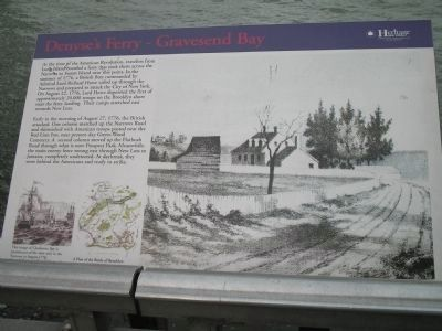 Denyse's Ferry – Gravesend Bay Marker image. Click for full size.