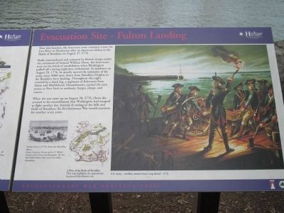 Evacuation Site – Fulton Landing Marker image. Click for full size.