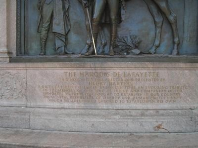 The Marquis de Lafayette Marker image. Click for full size.