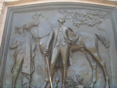 Closeup of Marquis de Lafayette Relief image. Click for full size.