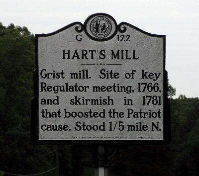 Hart's Mill Marker image. Click for full size.