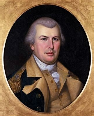 Maj Gen. Nathanael Greene - portrait by Charles Wilson Peale, 1783 image. Click for full size.