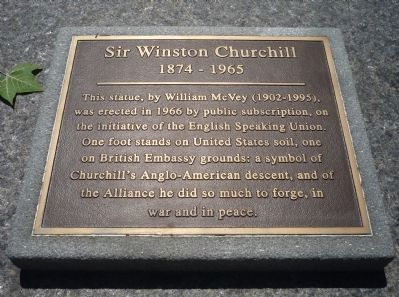 Sir Winston Churchill Marker image. Click for full size.