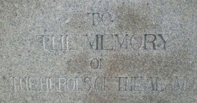 To The Memory of The Heroes of The Alamo image. Click for full size.