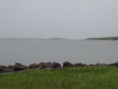 Fort Sumter Seen from Fort Johnson Today image. Click for full size.