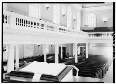 First Baptist Church Interior toward vestibule image. Click for full size.
