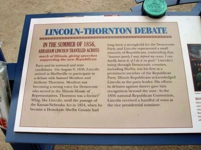 Lincoln - Thornton Debate Marker - Left Section image. Click for full size.