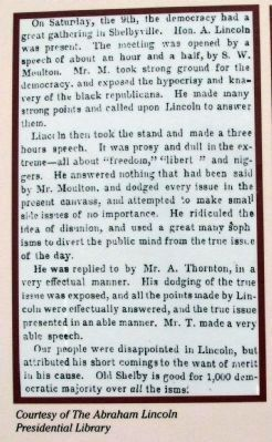 Newspaper Clipping - <i>Illinois State Register</i> Displayed on Marker image. Click for full size.