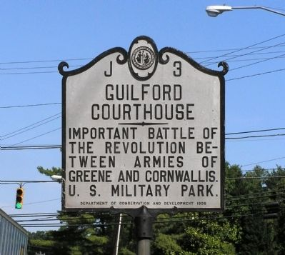 Guilford Courthouse Marker image. Click for full size.