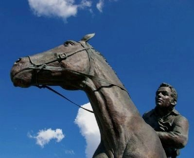 The National Pony Express Monument Marker image. Click for full size.