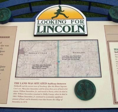 Lincoln and Divorce Marker - Center Section image. Click for full size.