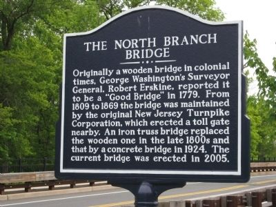 The North Branch Bridge Marker image. Click for full size.