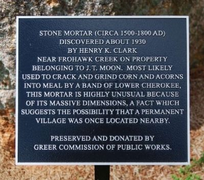 Stone Mortar Marker image. Click for full size.