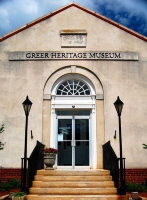 Greer Heritage Museum -<br>East (Main) Entrance image. Click for full size.