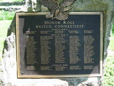 Honor Roll Weston, Connecticut image. Click for full size.