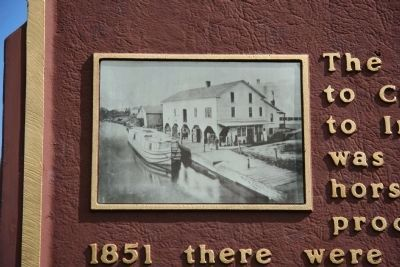 The Miami and Erie Canal Marker image. Click for full size.