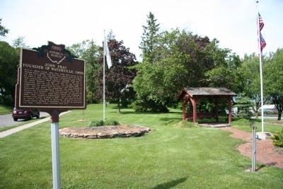 John Pray - Founder of Waterville,Ohio / The Miami and Erie Canal Marker image. Click for full size.
