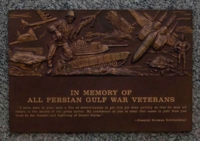 Graceland East Memorial Park Veterans Monument -<br>Persian Gulf War Plaque image. Click for full size.