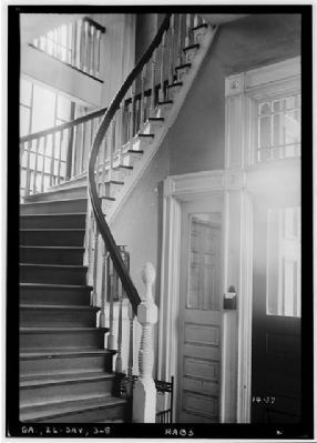Independent Presbyterian Church interior stairway image. Click for full size.