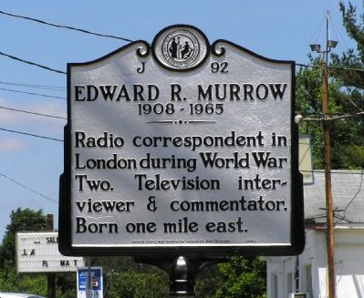 Edward R. Murrow Marker image. Click for full size.