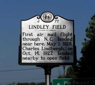 Lindley Field Marker image. Click for full size.