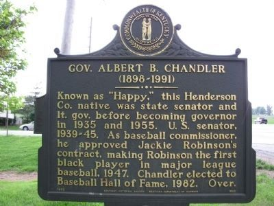 Gov. Albert B. Chandler Marker image. Click for full size.