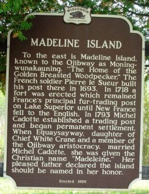Madeline Island Marker image. Click for full size.