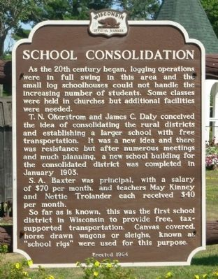 School Consolidation Marker image. Click for full size.