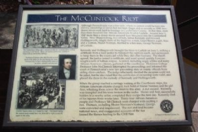 The McClintock Riot Marker image. Click for full size.