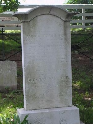 Gravestone of John A. and Susanna Van Pelt image. Click for full size.