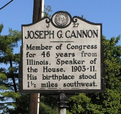 Joseph G. Cannon Marker image. Click for full size.