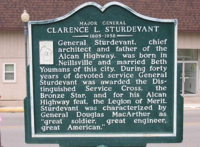Major General Clarence L. Sturdevant Marker image. Click for full size.