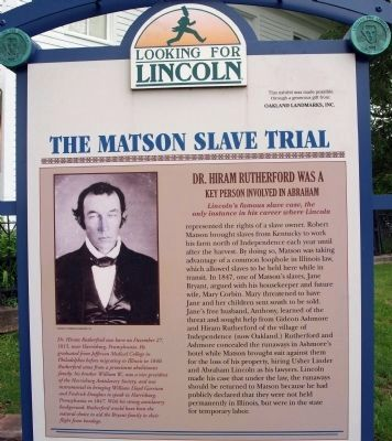 Top Section - - The Matson Slave Trial Marker image. Click for full size.