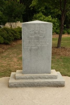 War of 1812 Tribute Marker image. Click for full size.