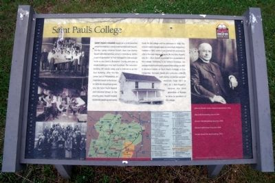 Saint Paul's College CRIEHT Marker image. Click for full size.