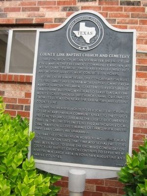 County Line Baptist Church and Cemetery Marker image. Click for full size.