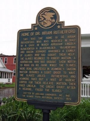 Home of Dr. Hiram Rutherford Marker image. Click for full size.