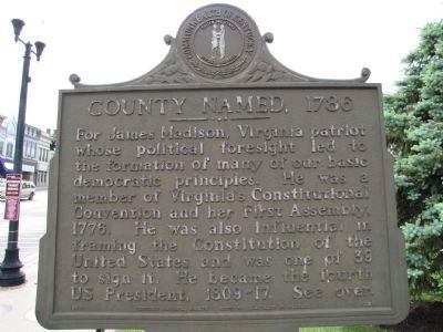 County Formed / County Named Marker image. Click for full size.