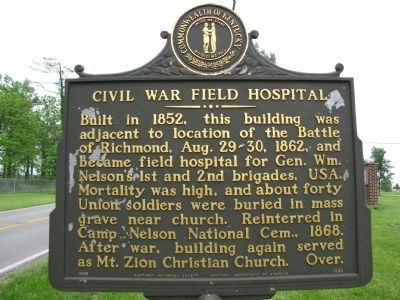 Civil War Field Hospital Marker image. Click for full size.