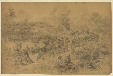 Destruction of Genl. Lees lines of Communication in Virginia by Genl. Wilson image. Click for full size.