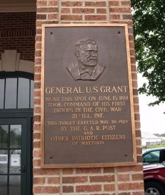 General U. S Grant took Command Marker image. Click for full size.
