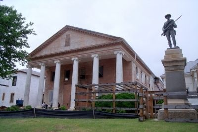 Boydton Courthouse (undergoing renovation) image. Click for full size.