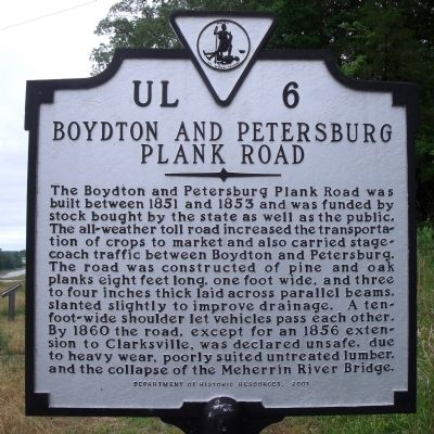 Boydton and Petersburg Plank Road Marker image. Click for full size.