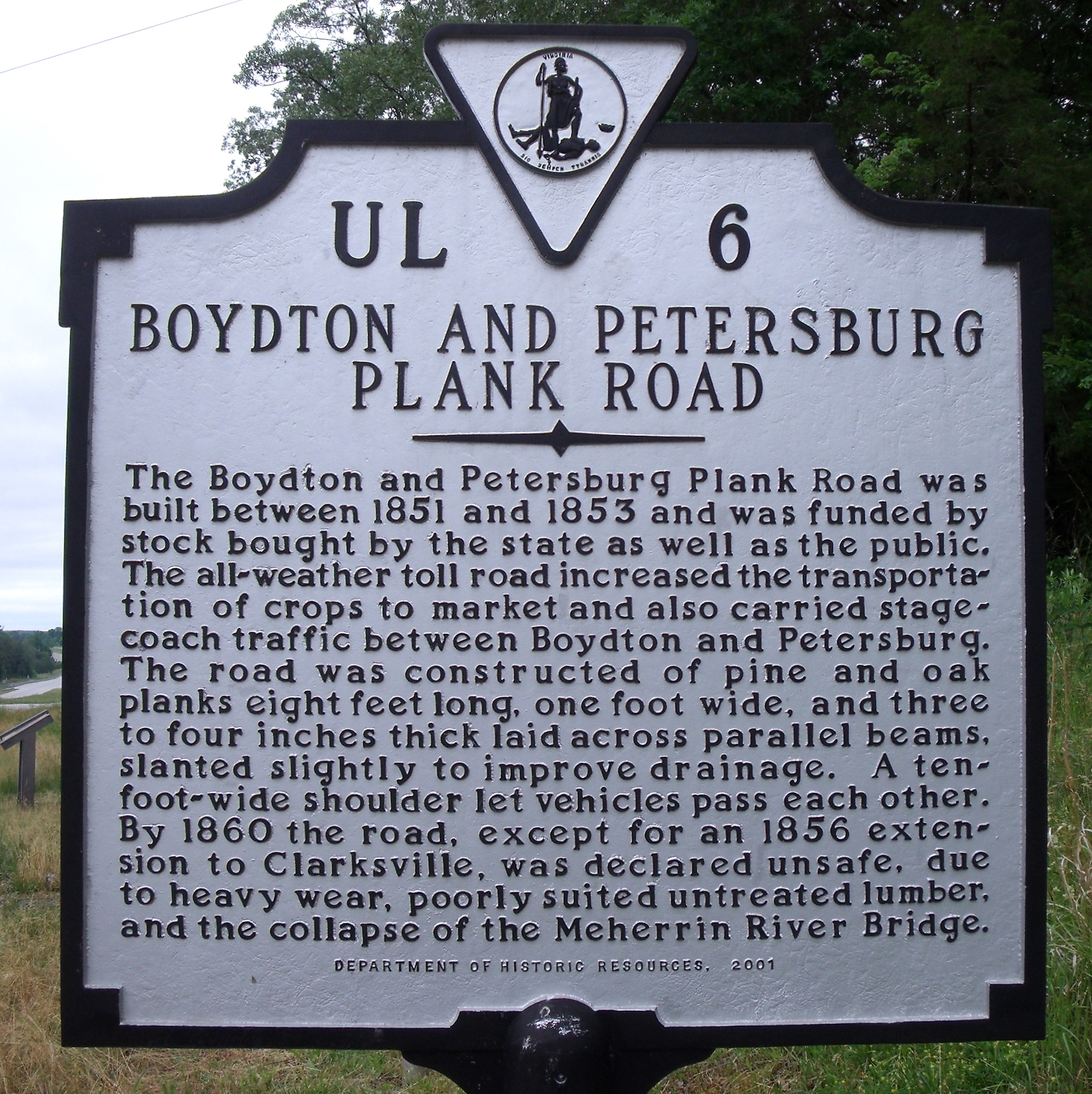 Boydton and Petersburg Plank Road Marker